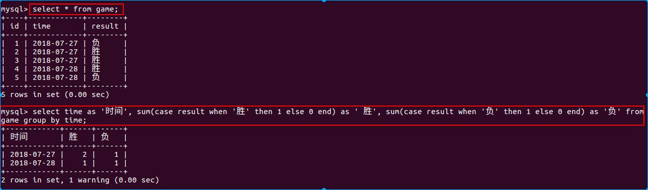 查game表的胜负次数-sum函数法