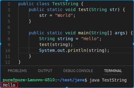 TestString输出