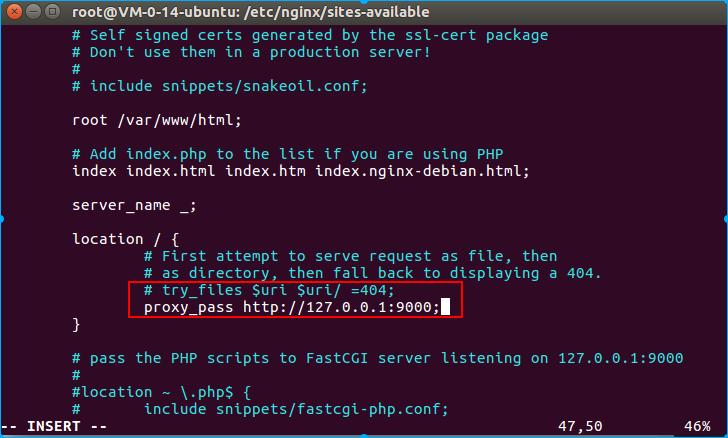 nginx配置端口转发